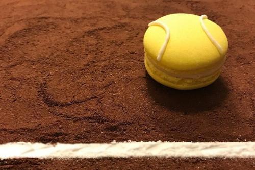CEB Tennis theme macarons