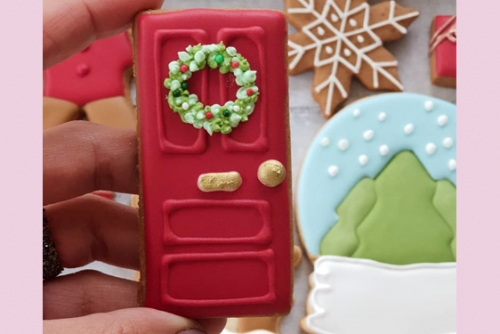 CEB Decorated door cookie